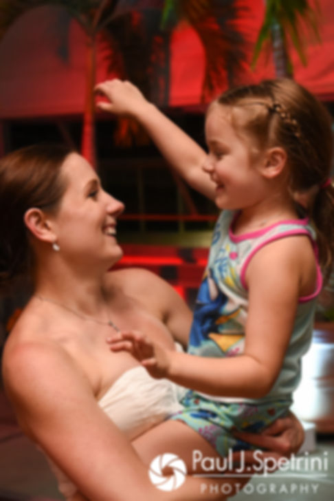 Jess dances with her daughter during her May 2017 wedding reception at the Roger Williams Park Botanical Center in Providence, Rhode Island.
