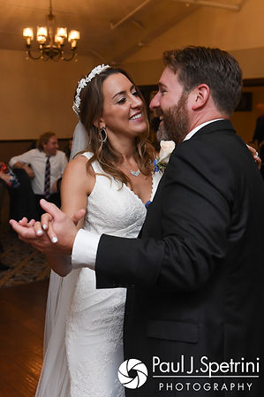 Kevin and Joanna dance during their October 2017 wedding reception at Cranston Country Club in Cranston, Rhode Island.