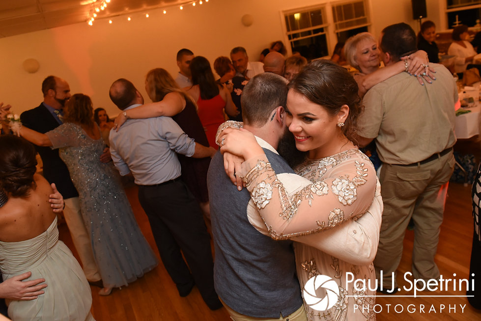 Arielle and Gary dance during their September 2017 wedding reception at North Beach Club House in Narragansett, Rhode Island.