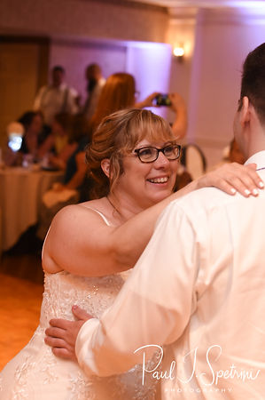 Robin and her son dance during her August 2018 wedding reception at Twelve Acres in Smithfield, Rhode Island.