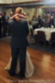 Justin and Jamie Bolani dance during their wedding reception in Bristol, Rhode Island in June 2015.