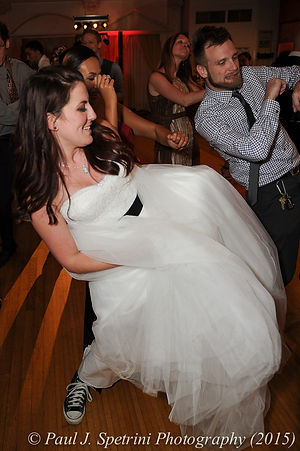 Justin and Jamie Bolani dance during their June 2015 wedding reception.