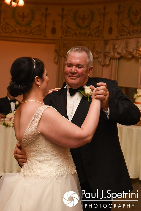 Allison and her father dance during her September 2017 wedding reception at the Roger Williams Park Casino in Providence, Rhode Island.