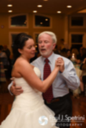 Kelly dances with her father during her November 2016 wedding reception at the Bay Pointe Club in Buzzards Bay, Massachusetts.