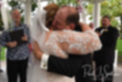 Patti and Bob kiss following their August 2018 wedding ceremony at the Walter J. Dempsey Memorial Bandstand in Norwood, Massachusetts.