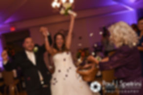Stephanie and Henry are introduced during their October 2016 wedding reception at Lake Pearl Luciano's in Wrentham, Massachusetts.