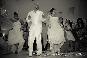 Joe Andrade dances at his reception.