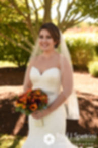 Kristina poses for a photo prior to her October 2017 wedding ceremony at the Villa Ridder Country Club in East Bridgewater, Massachusetts.