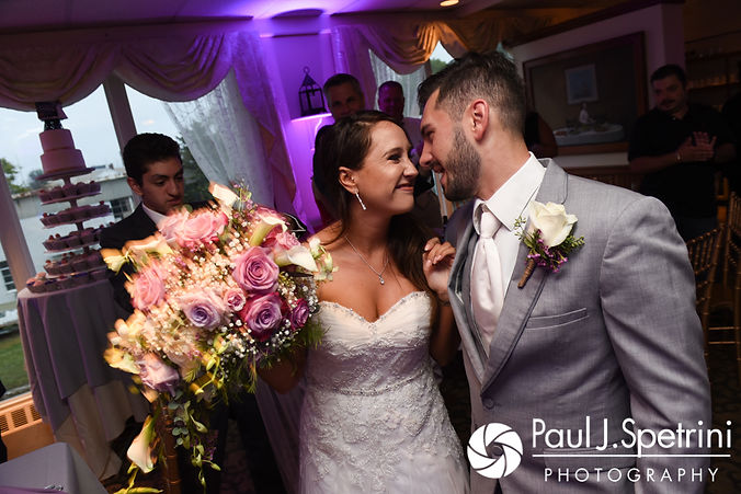 Stacey and John are introduced during their September 2017 wedding reception in Warren, Rhode Island.