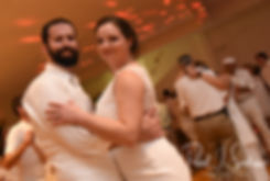 Mike & Selah dance during their August 2018 wedding reception at The Rotunda Ballroom at Easton's Beach in Newport, Rhode Island.