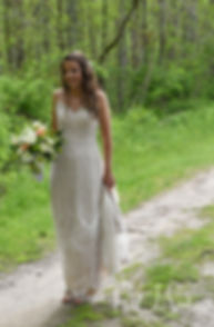 Ryan arrives to her first look with Mike prior to her May 2018 wedding ceremony at Bittersweet Farm in Westport, Massachusetts.