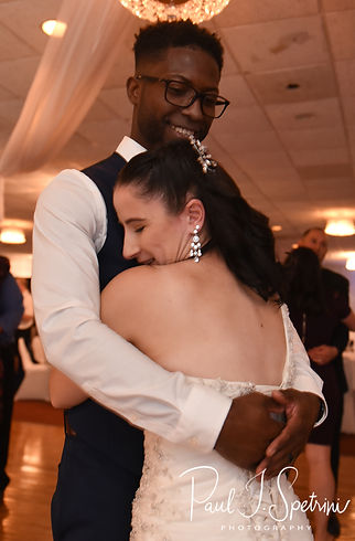 Courtnie and Richardson dance during their August 2018 wedding reception at Emerald Hall in Abington, Massachusetts.