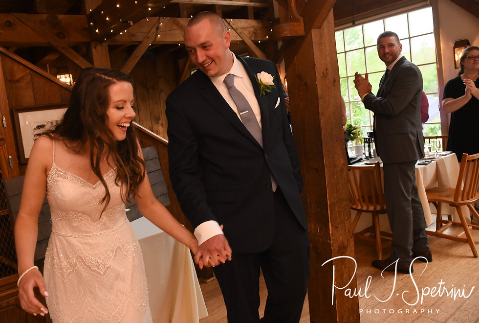 Ryan and Mike are introduced during their May 2018 wedding reception at Bittersweet Farm in Westport, Massachusetts.