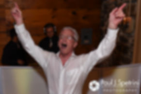 Bob dances during he and Debbie's June 2016 wedding reception at DeWolf Tavern in Bristol, Rhode Island.
