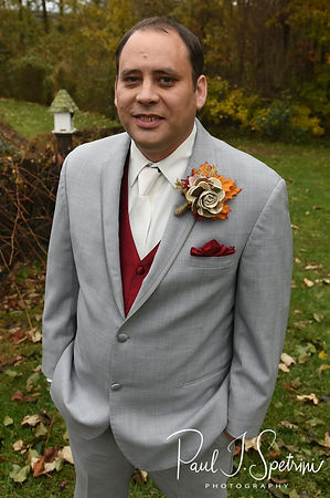 Rich poses for a photo prior to his October 2018 wedding ceremony at Zukas Hilltop Barn in Spencer, Massachusetts.