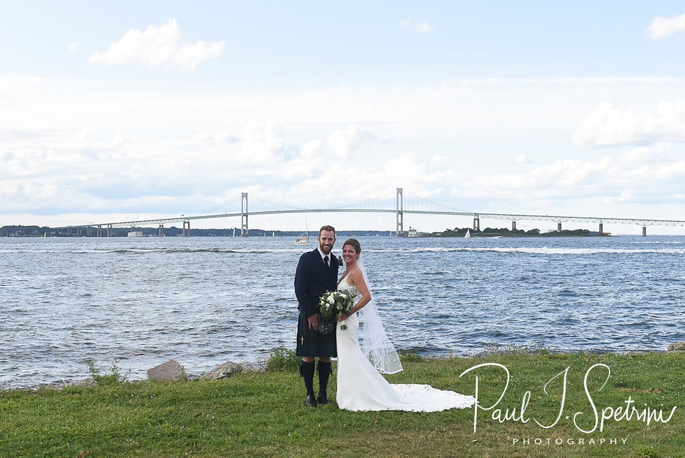 Fort Adams State Park Wedding Photography, Bride and Groom Formal Photos