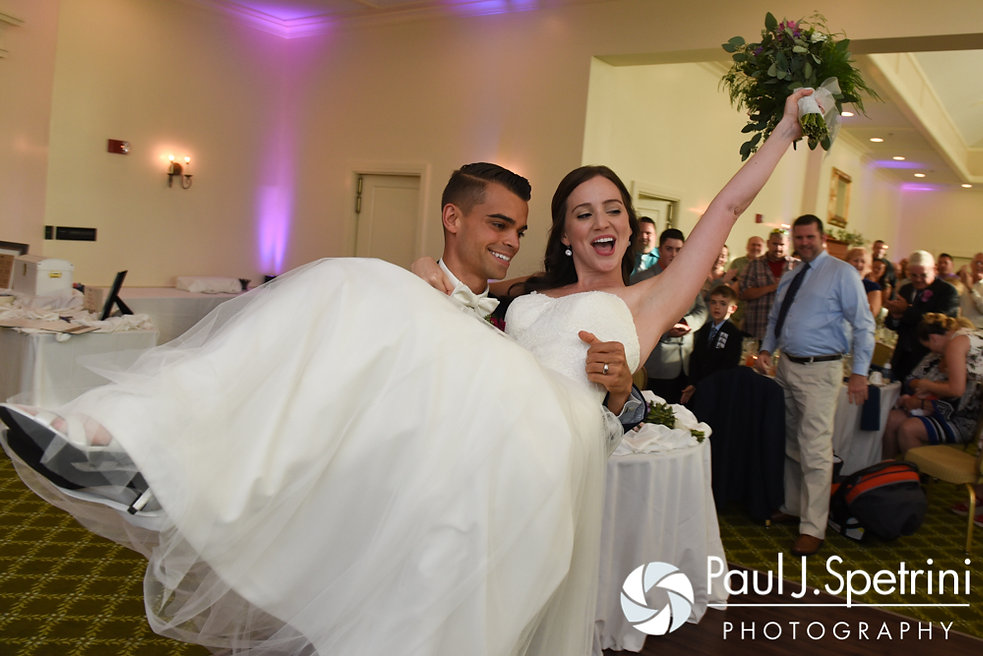Alyssa and Alex are introduced during their August 2016 wedding reception at LeBaron Hills Country Club in Lakeville, Massachusetts.