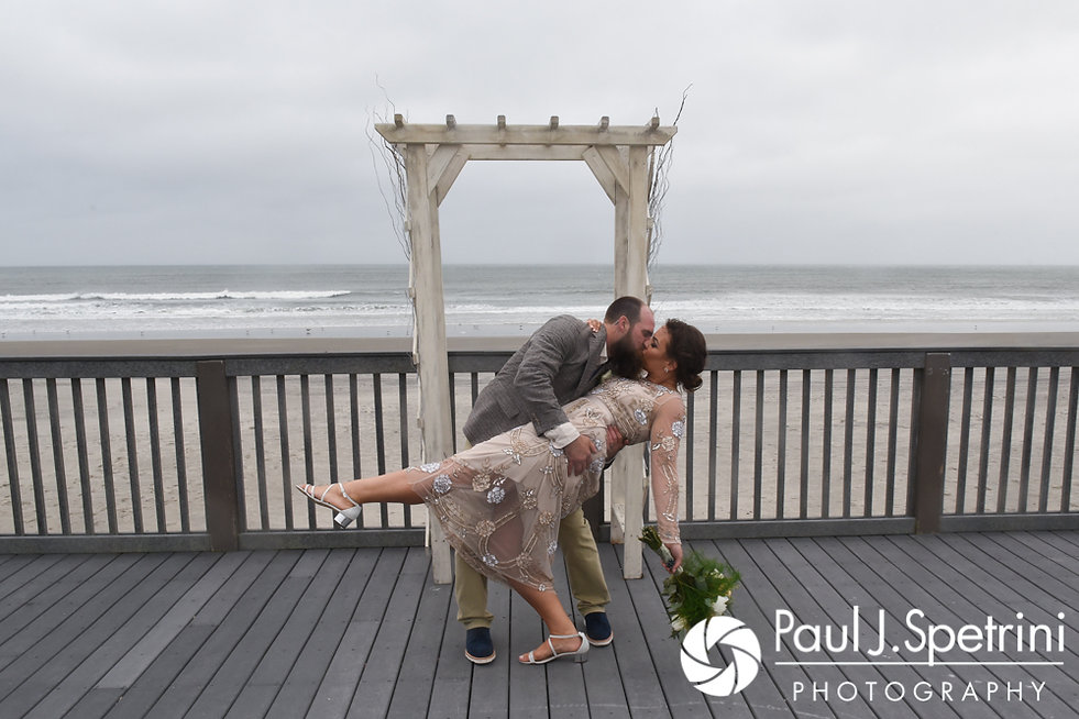 Arielle and Gary pose for a formal photo following their September 2017 wedding ceremony at North Beach Club House in Narragansett, Rhode Island.