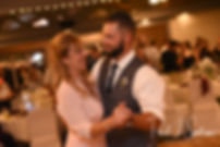 Gabe and his mother dance during his September 2018 wedding reception at Crystal Lake Golf Club in Mapleville, Rhode Island.