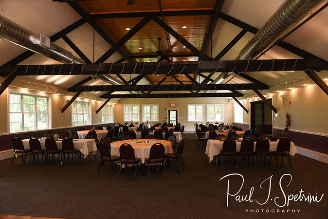 A look inside the Loon Pond Lodge in Lakeville, Massachuetts prior to Amanda & Josh's October 2018 wedding reception.
