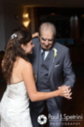 Marissa dances with her grandfather during her September 2016 wedding reception at the Aqua Blue Hotel in Narragansett, Rhode Island.