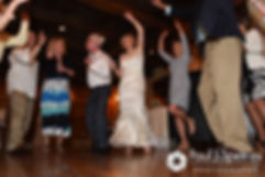 Bob, Debbie and guests dance during their June 2016 wedding reception at DeWolf Tavern in Bristol, Rhode Island.