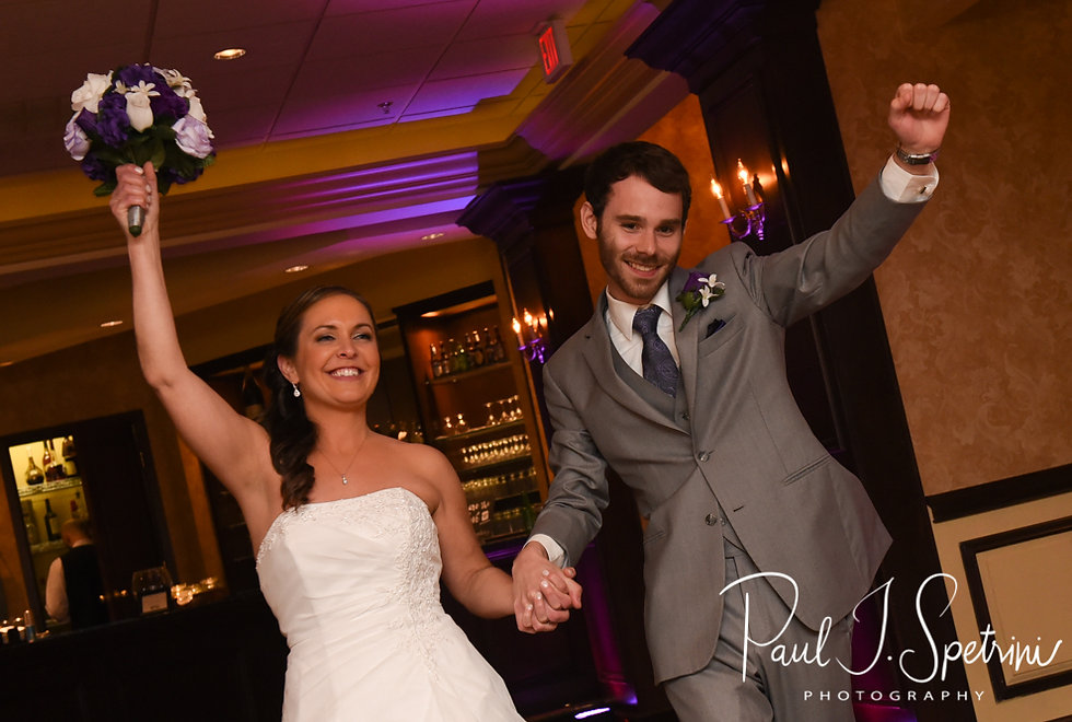 Sam and Katie are introduced during their April 2018 wedding reception at Quidnessett Country Club in North Kingstown, Rhode Island.