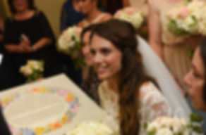 Helen smiles prior to her September 2018 wedding ceremony at the Touro Synagogue in Newport, Rhode Island.