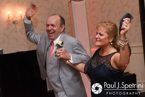Michelle's parents enter during their daughter's May 2016 wedding at Hillside Country Club in Rehoboth, Massachusetts.