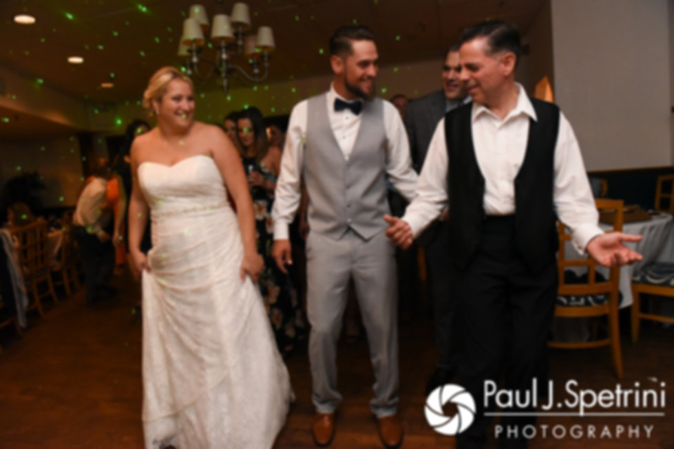 Jennifer and Robert dance during their September 2017 wedding reception at Oceanside at the Pier in Narragansett, Rhode Island.
