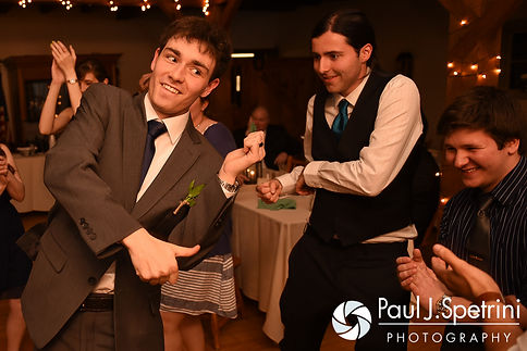 Jeremy dances during his May 2016 wedding reception at Bittersweet Farm in Westport, Massachusetts.