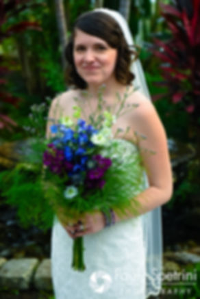 Jen smiles for a photo prior to her September 2016 wedding at the Roger Williams Park Botanical Center in Providence, Rhode Island.