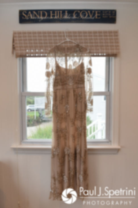 A look at Arielle's wedding dress prior to her September 2017 wedding ceremony at North Beach Club House in Narragansett, Rhode Island.