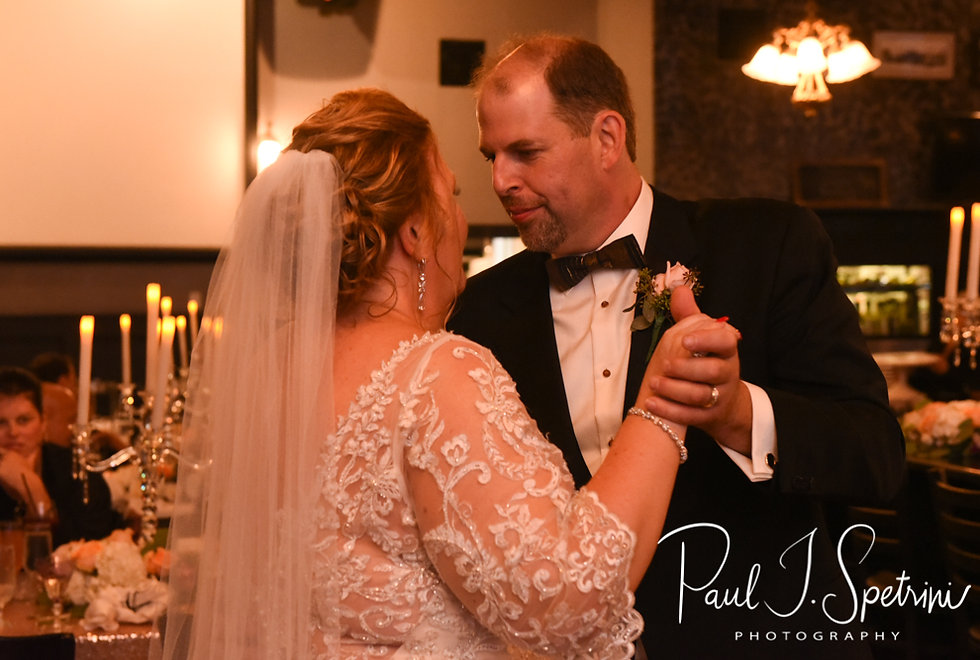 Patti & Bob dance during their August 2018 wedding reception at the Olde Colonial Cafe in Norwood, Massachusetts.