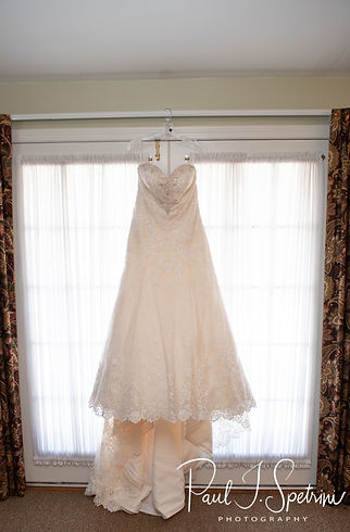 A look at Kaytii's wedding dress prior to her May 2018 wedding ceremony at Meadowbrook Inn in Charlestown, Rhode Island.