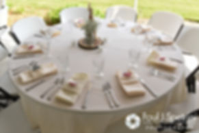 A look at the table settings at Latasha and Justin's May 2016 wedding at Country Gardens in Rehoboth, Massachusetts.