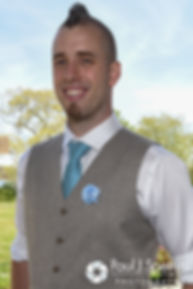 Ian smiles for a photo prior to his May 2016 wedding at Colt State Park in Bristol, Rhode Island.