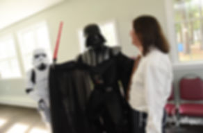 Josh is kidnapped by Darth Vader during his October 2018 wedding reception at Loon Pond Lodge in Lakeville, Massachusetts.