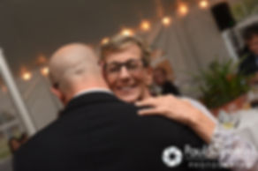 Forrester dances with his mother during his October 2016 wedding reception in Charlestown, Rhode Island.