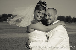 Joe and Jean Andrade pose for formal wedding photos at Colt State Park.