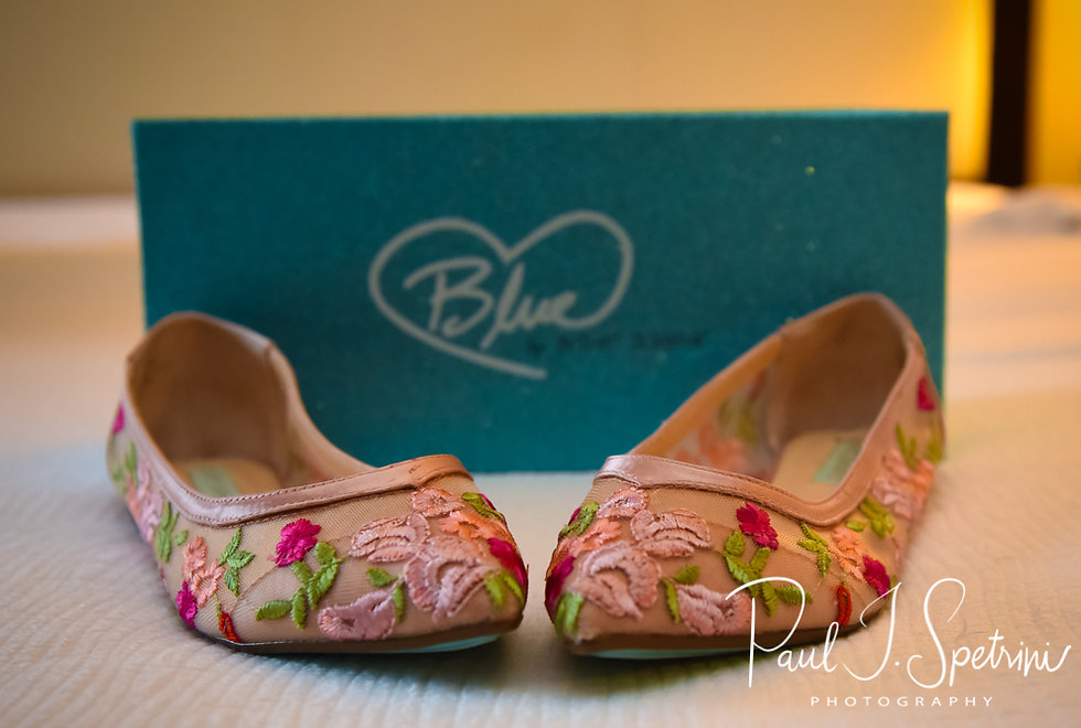 A look at Patti's shoes prior to her August 2018 wedding ceremony at the Walter J. Dempsey Memorial Bandstand in Norwood, Massachusetts.