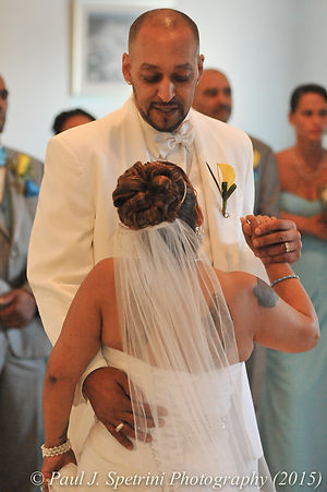Joe and Jean Andrade dance at their wedding.