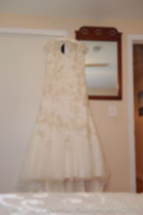 A look at Kerry's wedding dress prior to her fall wedding at Quidnessett Country Club in North Kingstown, Rhode Island on October 23rd, 2015.