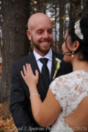 Mike smiles while looking at Emma prior to their November 2015 wedding at the Publick House in Sturbridge, Massachusetts.
