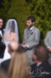 Sam reads his vows to Katie during his April 2018 wedding ceremony at Quidnessett Country Club in North Kingstown, Rhode Island.