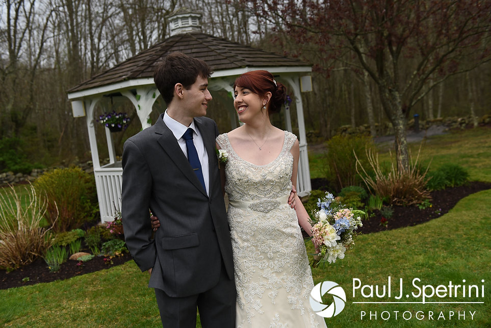 Ellen and Jeremy pose for formal photos following their May 2016 wedding at Bittersweet Farm in Westport, Massachusetts.