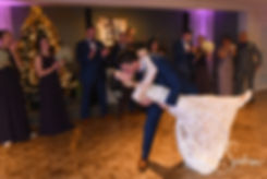 Stacey & Mack dance during their December 2018 wedding reception at Independence Harbor in Assonet, Massachusetts.