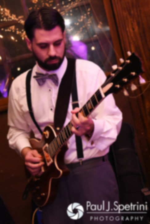 Andy plays the guitar during his November 2016 wedding reception at the Salem Cross Inn in West Brookfield, Massachusetts.