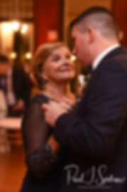 Brian and his mother dance during his September 2018 wedding reception at Squantum Association in Riverside, Rhode Island.