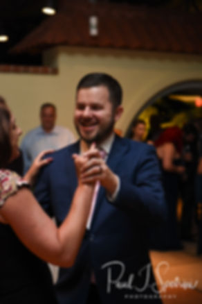 Gary and his mother dance during his May 2018 wedding reception at the Roger Williams Park Botanical Center in Providence, Rhode Island.